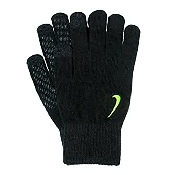 Nike Mens Knit Touch Screen Winter Gloves Black S/M at