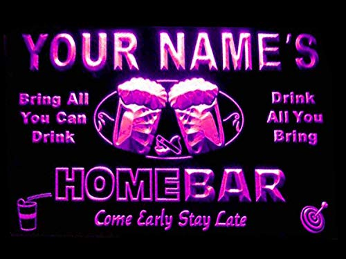 - ADVPRO p-tm-p Name Personalized Custom Home Bar Beer Neon Light Sign Purple 24x16 inches