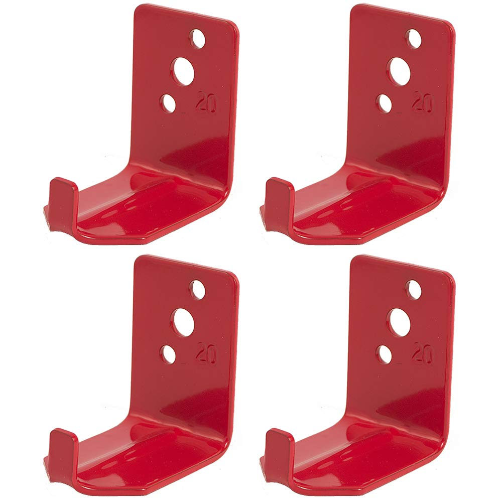 4 - Universal Fire Extinguisher Wall Hook, Mount, Bracket, Hanger for 15 to 20 Lb. Extinguisher with Screws by LPI