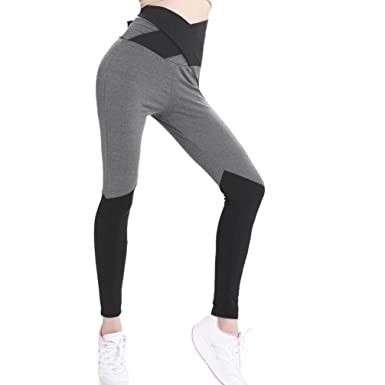 HARRYSTORE Women Sports Mesh Trousers Athletic Gym Workout Fitness Waist Yoga Pants Running Leggings White