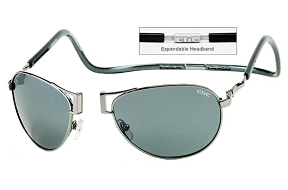 Amazon.com  CliC Readers Aviator XXL Sunglasses Gunmetal Frame ... b288487743ed4
