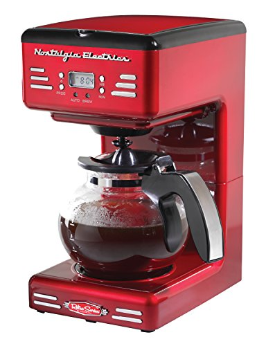 Nostalgia RCOF120 Retro 12-Cup Programmable Coffee Maker