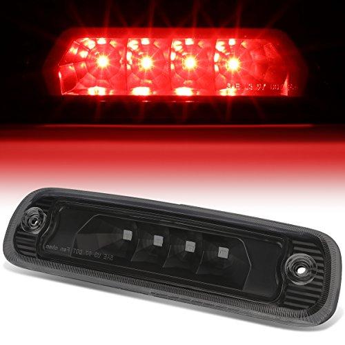 For 97-01 Jeep Cherokee Rear Hight Mount LED 3rd Third Tail Brake Light (Black Housing Smoked Lens)