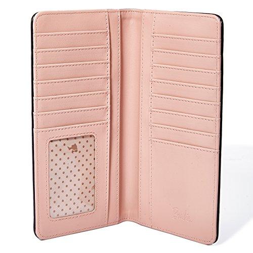 Barbie Cartera Moderna Cartera de Remaches Rectángula Plegable de Vintage para mujer chicas 3