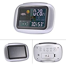 Wireless Weather Station Clock LCD Digital Thermometer Humidity Indoor / Outdoor