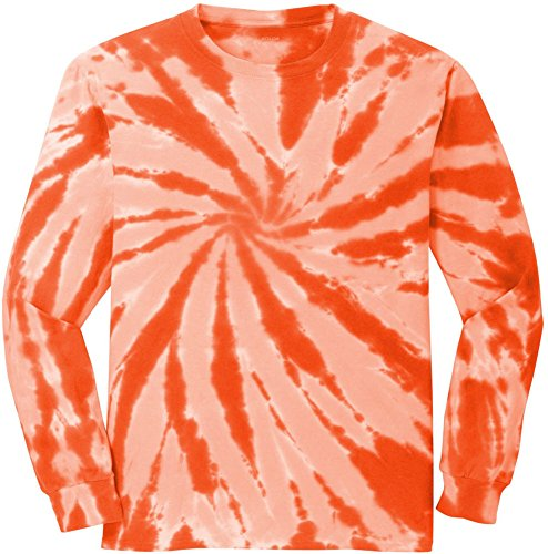 Koloa Surf Co.(tm) Colorful Long Sleeve Tie-Dye T-Shirt,M-Orange