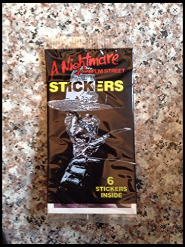 Lot of(5) Unopened 1984 Nightmare on Elm Street Sticker Pack retro 80s trading cards - Non Sports