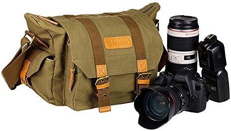TARION Bolsa vintage moderna de lona para cámaras y lentes con ...