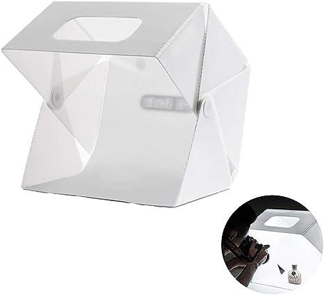 Z@SS Caja portátil de Estudio fotográfico,Kit de Carpa fotográfica para Tiro fotográfico Softbox de iluminación Plegable con Luces LED magnéticas + 2 Fondos para exhibición de Productos: Amazon.es: Deportes y aire libre