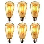 Antique LED Bulb, Oak Leaf 4w ST64 Vi...