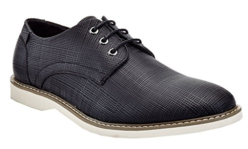16003 Shoes Casual Textured Black Mens Dress Vanucci Franco Oxford 81BZx