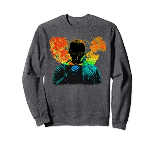 Unisex Vapor Blowing Big Cloud Chasers Smokers E-Cig Vaping Sweater Medium Dark Heather