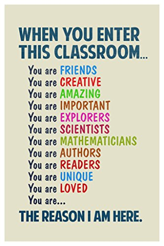 Classroom Sign When You Enter This Classroom Teachers Motivational Rules Poster