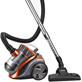 VonHaus 1200W 2L Orange/Grey Bagless Vacuum with 5m Cord and 1.5m Tube Length, HEPA Filtration + Accessories