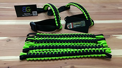 2 Colour Handles (Custom 2 Color Paracord Jeep Wrangler Grab Handles - Pick Your Options)