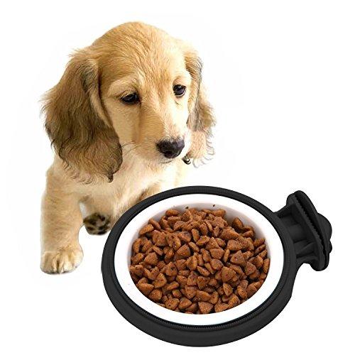 - Pet Supplies Colorful Fixed Style Suspensibility Detachable Dogs Pet Bowls Size: S, 103.03.0 cm (Color : Black)