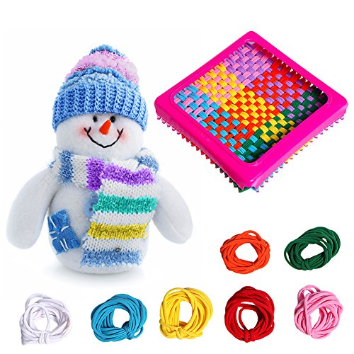 (Luerme Weaving Loom Refill Loops Kids Toys Crafts Stretchy Braided Crafts Loops Loom Kit Refill Loops Multi-Color Pack Loopy Projects)