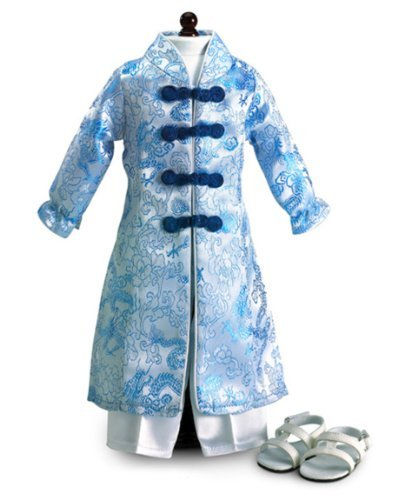 Vietnamese Ao Dai Dress with Pants and Sandals Fits 18