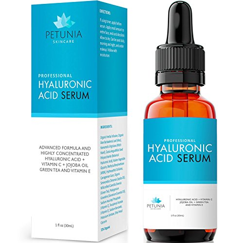 Best Hyaluronic Acid Serum with Vitamin C For Face Deeply Hydrate and Plump Dry Skin