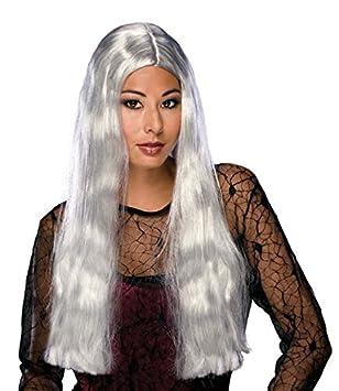 Precio Valores, Gris Bruja peluca de pelo largo para Halloween: Amazon.es: Juguetes y juegos