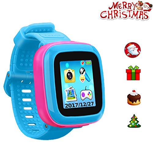 """Kids Game Watch Smart Watch for Kids Children's Birthday Gift with 1.5 """" Touch Screen and 10 Games, Children's Watch Pedometer Clock Smart Watch Kids Toys Boys Girls Gift. (Joint Blue) ()"""