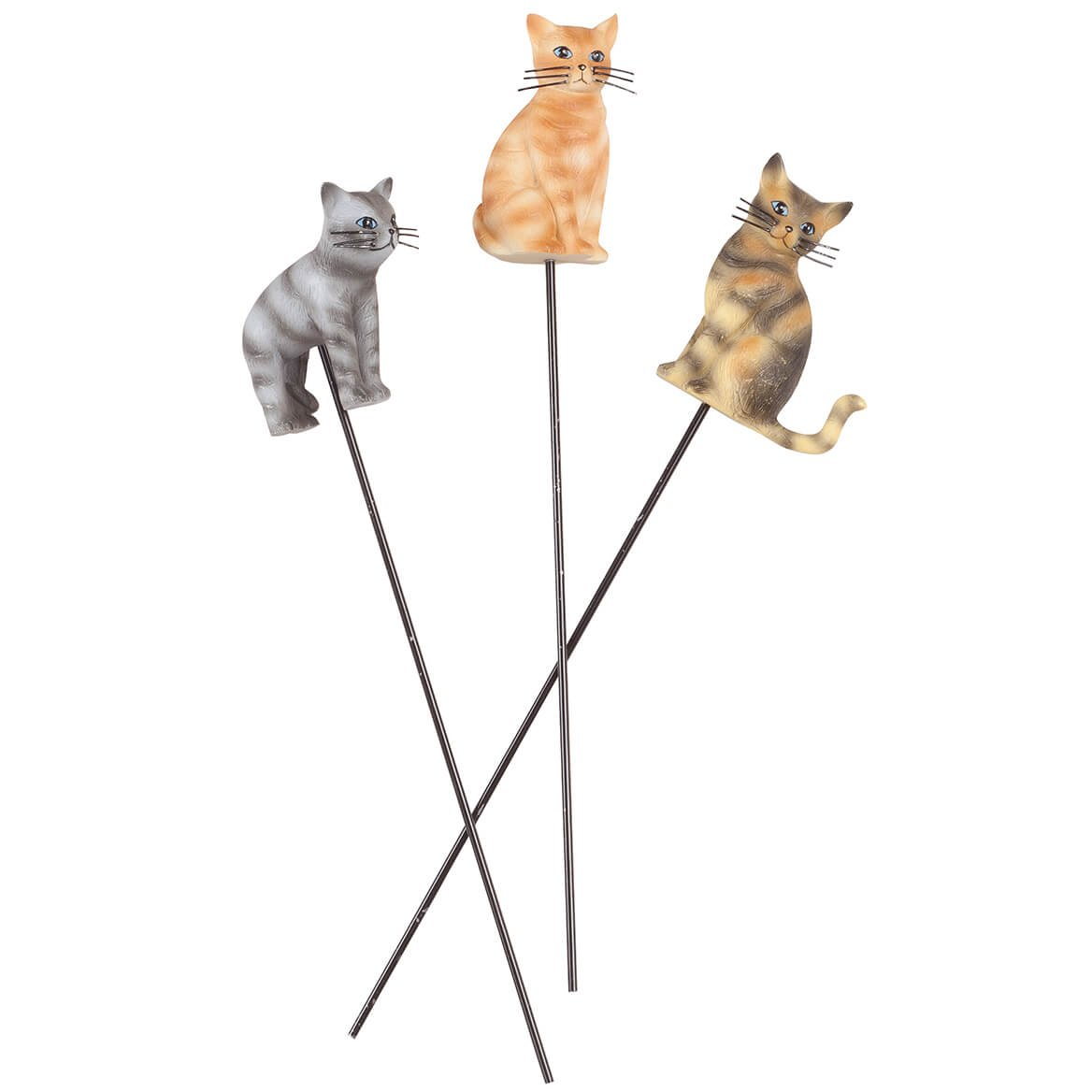 Resin Cat Planter Stakes, Set of 3 by Maple Lane CreationsTM