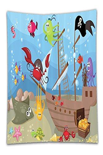 Pirate Instant Dress Set Up (Beshowereb Fleece Throw Blanket Kid Baby Nursery Decor Ocean Treasure Sunken Ship Pirate Sail Boat Ahoy Fabric BoyBathroom Blue Red Yellow Black Green Brown.jpg)
