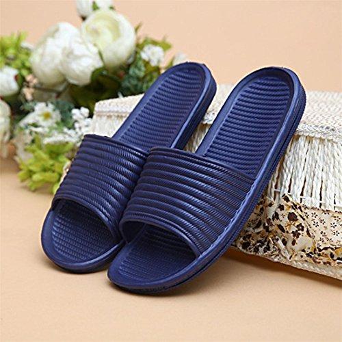 Malloom® Sandalen, Herren Sommer Indoor Schuhe Sandalen Streifen flach Bad Hausschuhe Flip-flops Navy