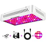 Garpsen 1000W Double Chips LED Grow Light, Optical Lens Full Spectrum LED Plant Light with Daisy Chain | Rope Hanger | Switch for Indoor Greenhouse Hydroponic Plants (10W LEDs)