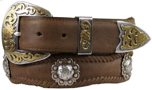 Belts.com Men's Western Leather Concho Belt 1 1/2