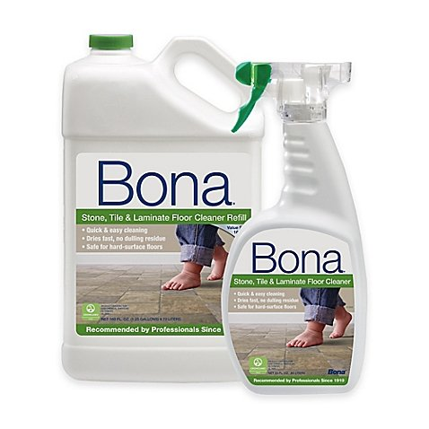 Bona (22 oz.)Spray Bottle And (160 oz.)Stone, Tile, and Laminate Floor Cleaner Refill