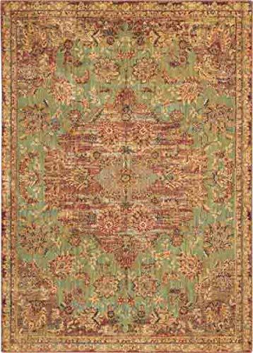 Jade Vintage Green (Nourison VGT01 Vintage Tradition Green Multicolor Persian Area Rug 5'3