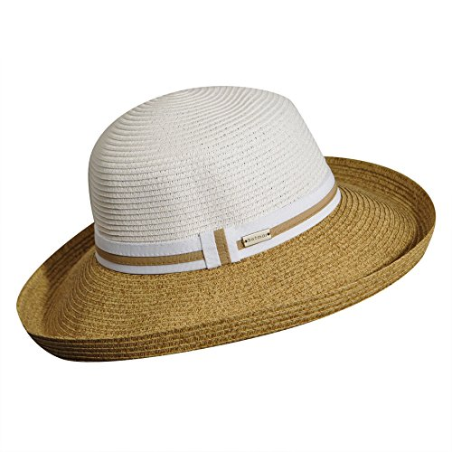 (Betmar Women's Perla Upturned-Brim Hat, White/Natural, One Size)