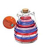 Toland Home Garden Large Patriotic Pesticide-Free 5.5-Inch Diameter Glass Wasp and Fruit Fly Trap 10244