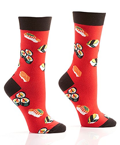 Price comparison product image Yo Sox Sushi Funky Women's Crew Socks for Dress or Casual Wear Size 5-10