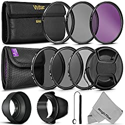 58mm Altura Photo 3pc. ND Filter Set (ND2 / ND4 / ND8)- ND filters (Neutral Density) reduce the amount of light reaching the film without affecting the color. Can be used to enable slower shutter speeds. Also can be used to better separate subjects ...
