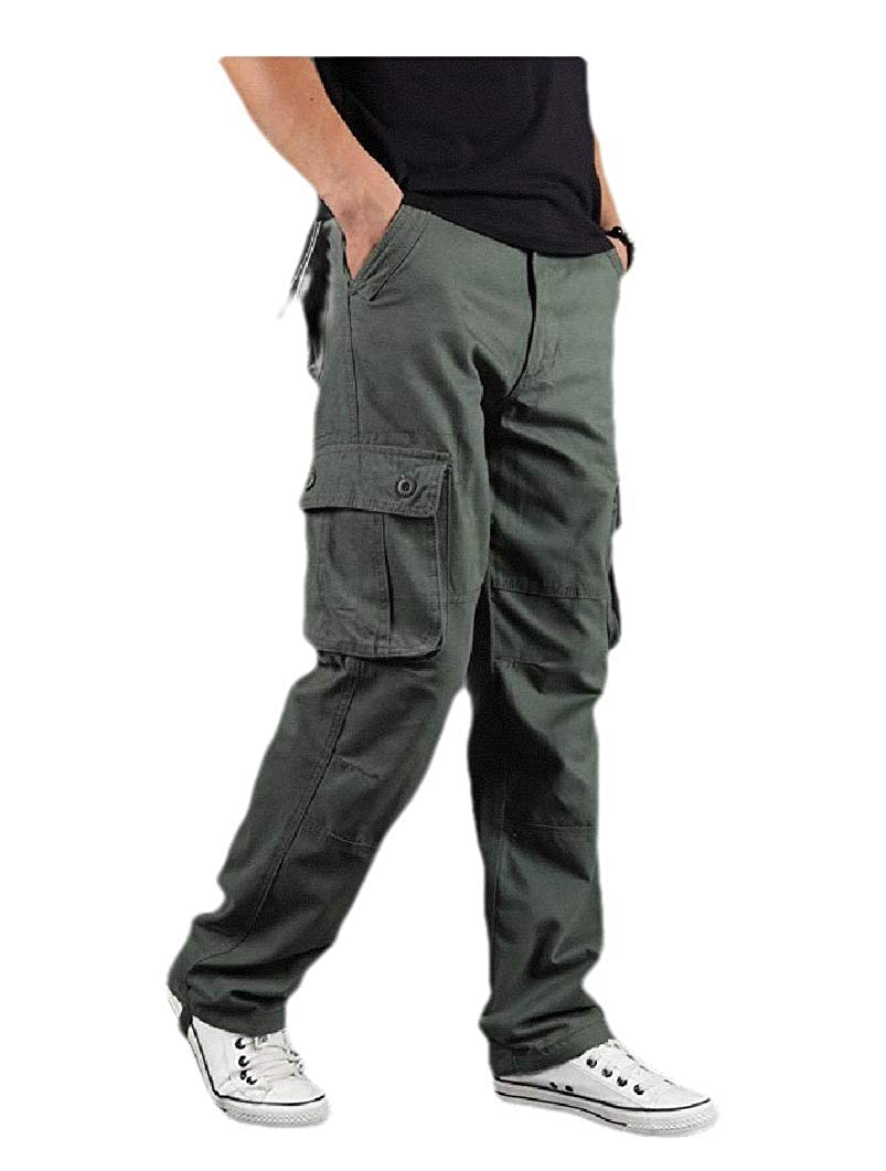 Zimaes-Men Sustainable Relaxed-Fit Big /& Tall Outdoor Tactical Pants
