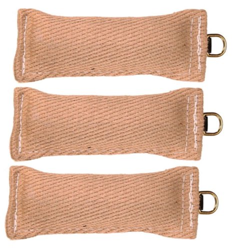 "Bundle Of 3 Jute Tugs with O-Ring 3"" x 8"" RedLine K9"
