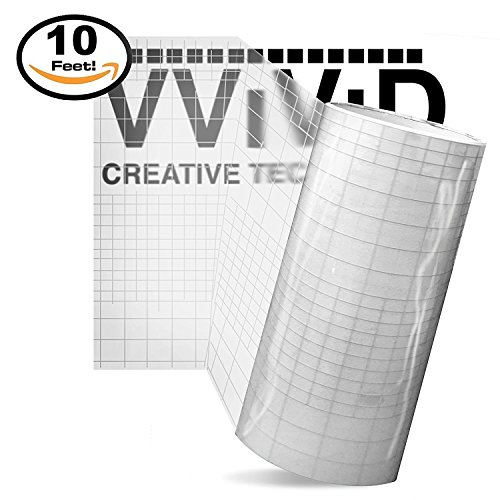 Vinyl Transfer Paper (High Gloss Clear Vinyl Transfer Paper Self-Adhesive Roll w/ Grid Backing 12