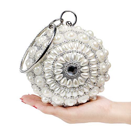 Yzibei Sacchetto partito moda di Argento per annuale perla pratico Oro compleanno discoteca Colore cena sferica delle festa donne riunione di r5qwxr7Sn