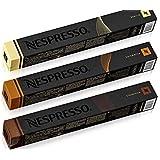NESPRESSO ネスプレッソコーヒー フレーバータイプ3種類CIOCATTINO・CARAMELITO・VANILIO 3セット10個×3=30個 並行輸入品