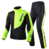 Scoyco RC01 Motorcycle Rain Coat Pants Set Protective Gear (XL)