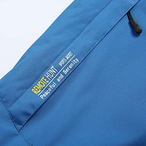 Ropa Respirable Rompevientos Ciclismo Chaqueta Deporte Térmico Larga Impermeable Softshell Cremallera Manga Con Transpirable Cómodo Para Azul2 Hombre Esquí De Hombres Zodof Y XwSzRxS