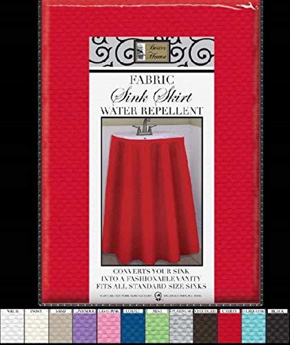 - Better Home Mosaic Fabric Sink Skirt, Self Stick, Water Repellent, Sand