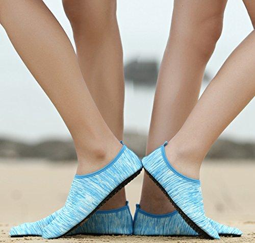 Lanbaosi Womens Heren Aqua Watersokken Mode Strand Zwembad Casual Loopband Sokken Lichtblauw