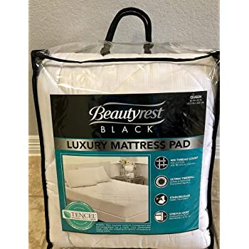 Amazon Com Beautyrest Black Luxury Cotton Mattress Pad