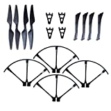 F100 & F100 Ghost Drone Parts Crash Pack – Propellers, Prop Guards & Landing Gear – Spare Parts Kit Also Compatible w/ MJX B3 Bugs 3 Quadcopter