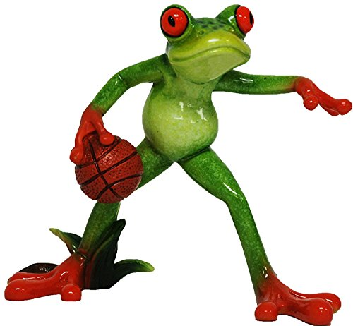 Glazed Frog Basketball Player Figurine YX6015