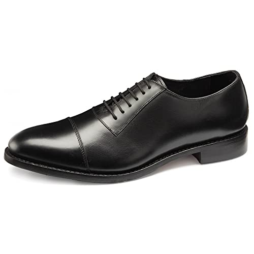 a69258c97 Samuel Windsor Men s Handmade Goodyear Welted Black Oxford Italian ...