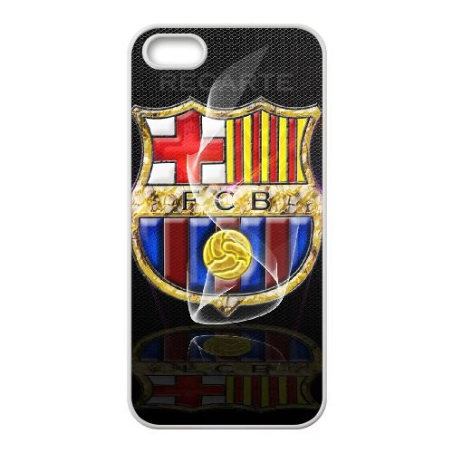 Fcb 009 coque iPhone 5 5S Housse Blanc téléphone portable couverture de cas coque EOKXLLNCD11839